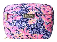 Lilly Pulitzer Travel Cosmetic Multi Coco Coral Crab Cosmetic Case Pink