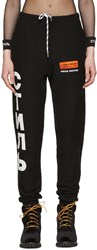 Heron Preston Black Ctnmb Slim Sweatpants