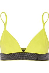Alexander Wang T By Neon Ponte Bra Top Chartreuse
