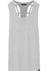 Koral Cutout Stretch Jersey Tank Light Gray