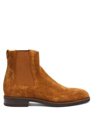 Paul Smith Canon Suede Chelsea Boots Tan