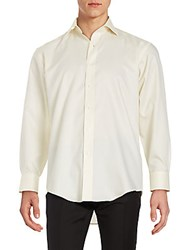 Saks Fifth Avenue Classic Fit Solid Sportshirt Yellow