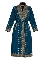 Etro Embroidered Fur Lined Coat