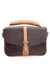 Will Leather Goods 'Athena' Leather Crossbody Bag Brown Brown Black