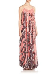 Chloe Floral Jacquard Gown Candy Sky Blue