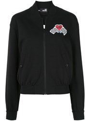Love Moschino Race Patch Bomber Black