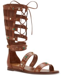 Vince Camuto Shandon Lace Up Gladiator Sandals Women's Shoes Whiskey Barrel