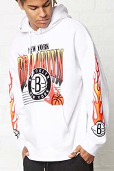 Forever 21 Nba Brooklyn Nets Hoodie White Red