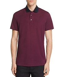 Theory Lukis Contrast Collar Slim Fit Polo Shirt 100 Bloomingdale's Exclusive Deep Chinon Eclipse