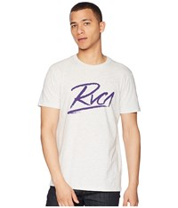 Rvca Scribe Tee Snow Marle T Shirt White