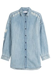 Iro Distressed Denim Shirt Blue