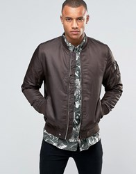 Brave Soul Ma1 Bomber Jacket Brown