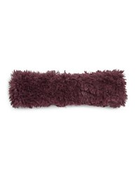 Calvin Klein Faux Fur Headband Purple
