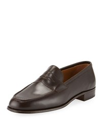 Gravati Classic Penny Loafer Black Brown Dark