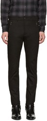 Diesel Black Gold Skinny Zip Trousers