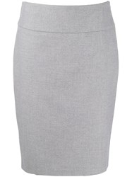 Peserico Pencil Midi Skirt Grey