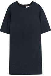 Chinti And Parker Broderie Anglaise Cotton Dress Navy