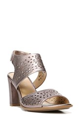 Naturalizer Women's Zinna Perforated Sandal Bronze Leather