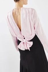 Topshop 80'S Overlay Showstopper Blouse By Boutique Pale Pink