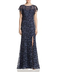 Decode 1.8 Flutter Sleeve Lace Gown Pewter