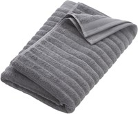 Cb2 Channel Grey Cotton Bath Towel