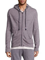 Sol Angeles Tonal Striped Heathered Hoodie