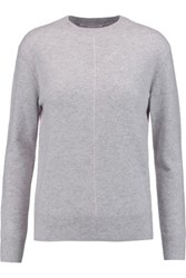 Duffy Two Tone Cashmere Sweater Light Gray