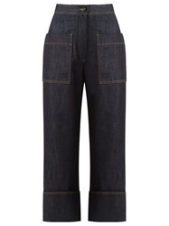 Fendi Tailored Cropped Jeans Blue