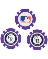 Team Golf Colorado Rockies 3 Pack Poker Chip Markers Purple