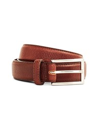 The Idle Man Full Grain Leather Stitched Belt Brown Black