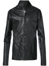 A Diciannoveventitre Slim Fit Jacket Horse Leather Black