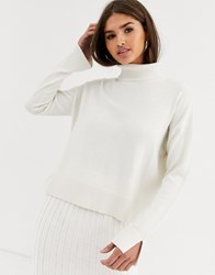 Micha Lounge Luxe Rollneck Jumper Coord In Wool Blend Cream
