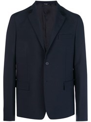 Oamc Single Breasted Blazer Blue