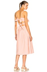 Sea Tie Front Cutout Dress In Pink