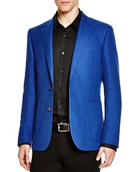 Hardy Amies Hopsack Basic Slim Fit Sport Coat Blue