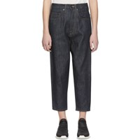 Rick Owens Drkshdw Indigo Collapse Cut Jeans