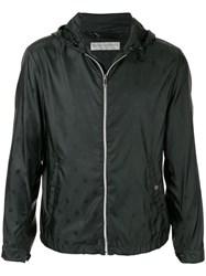 Gieves And Hawkes Zipped Hooded Jacket Black