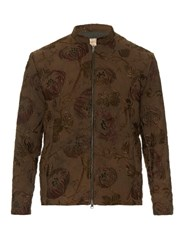 By Walid Classic Embroidered Canvas Jacket Green