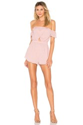 By The Way Aviana Off Shoulder Romper Mauve