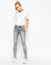 Cheap Monday High Spray Destroyed High Waist Superskinny Jeans Grey