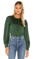 Privacy Please Rowen Top In Dark Green. Evergreen