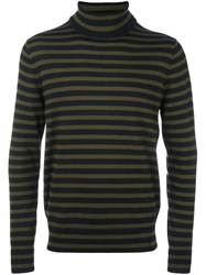 Paul Smith Ps By Striped Turtleneck Jumper Blue