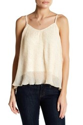 14Th And Union Nova Chiffon Pleated Cami Petite White