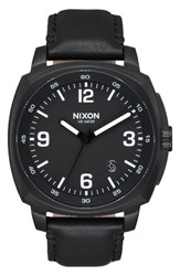 Nixon Men's Charger Leather Strap Watch 42Mm Black