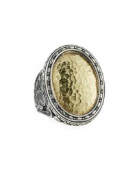 Konstantino Color Classics Hammered Oval Statement Ring Multi