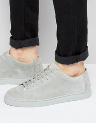 Selected Homme David Suede Trainers Grey