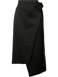 Rochas Asymmetric Wrap Skirt Black