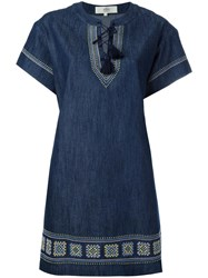 Vanessa Bruno Athe Shift Denim Dress Blue