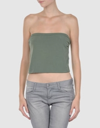 Manila Grace Tube Tops Green
