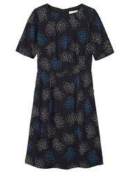 Toast Dotted Floral Dress Black